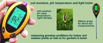Plant care with 4in1 Soil tester