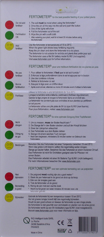 Fertometer instructions