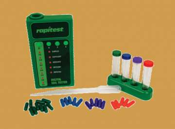 Lusterleaf Rapitest digital soil test kit parts