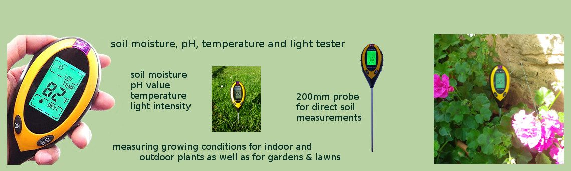 Measure soil moisture level with the 4in1 Soil Tester