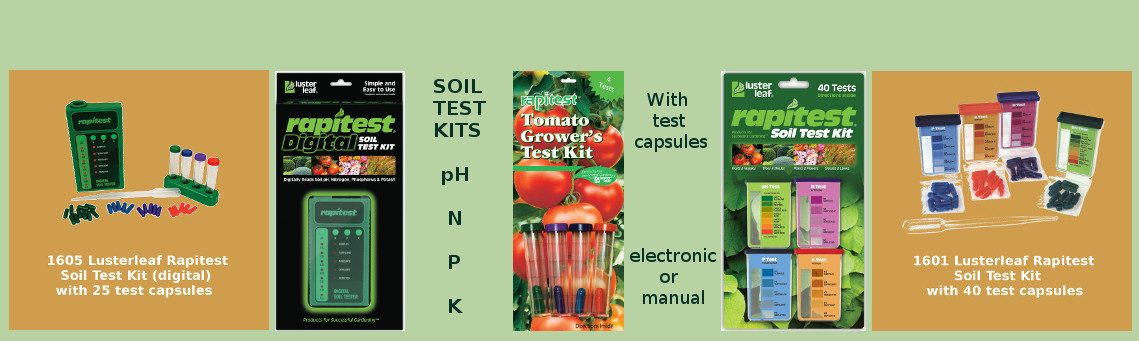 Lusterleaf Rapitest soil testers and soil meters