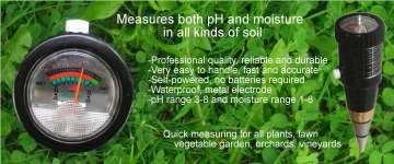 Plant care with soil pH - moisture meter
