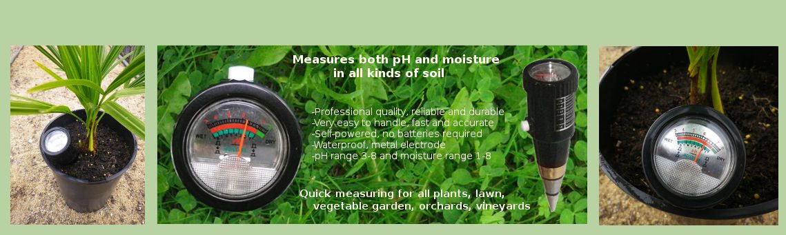 Measure soil moisture level with soil pH - moisture meter