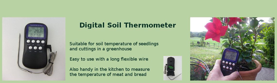 Measure temperature with Digital soil thermometer
