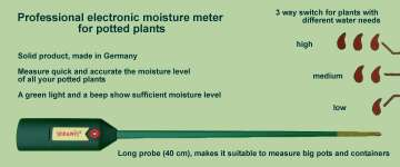 Plant care with Seramis electronic moisture meter