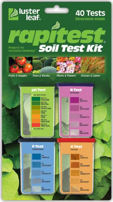 Lusterleaf Rapitest soil test kit