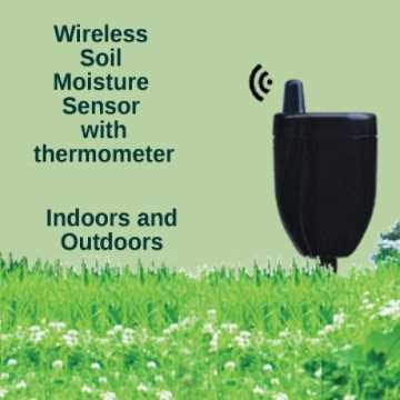 Wireless soil moisture sensor with thermometer