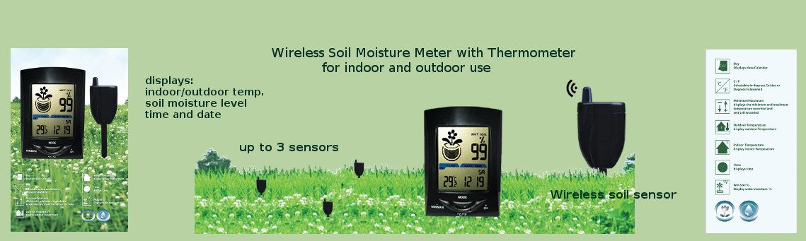 Measure temperature with the wireless soil moisture monitor