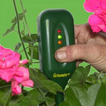 fertometer in potted plant