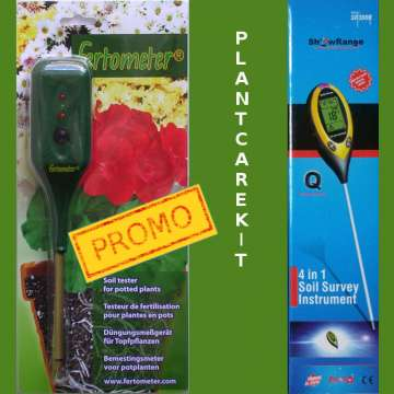 Plantcarekit - Measure soil pH, EC, moisture, temp. and light