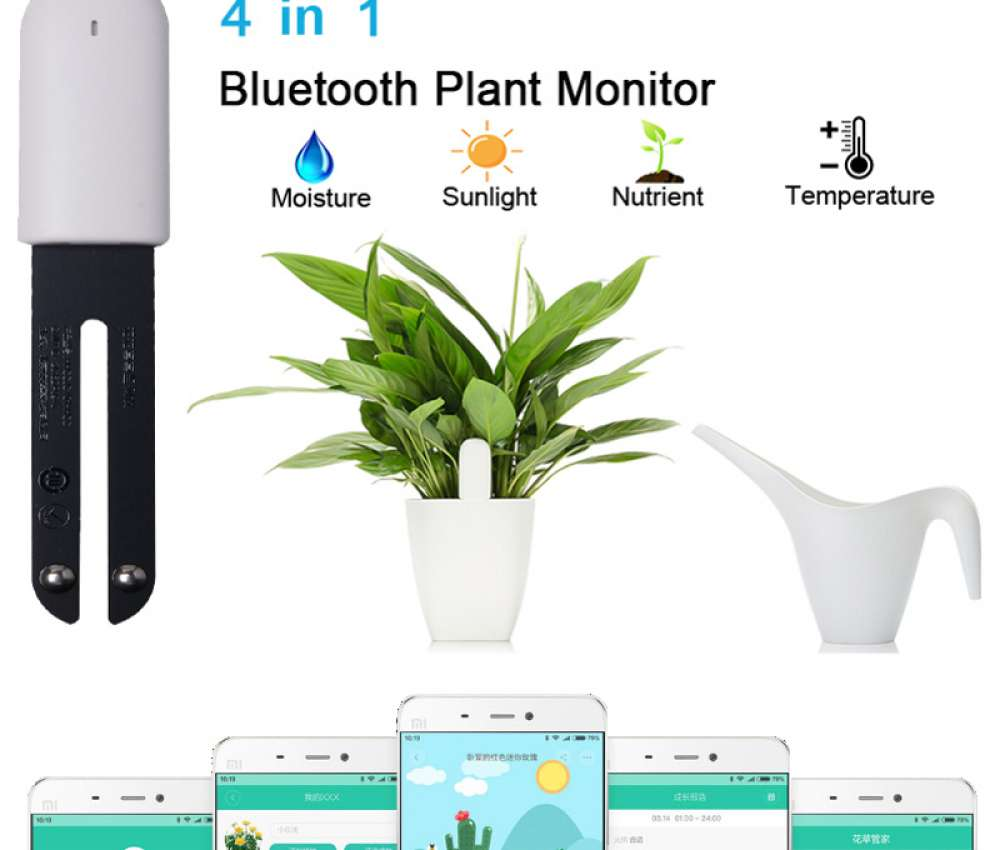 4 in 1 Bluetooth planten monitor