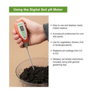 Digital soil pH Meter with BI-Metallic Soil Probe