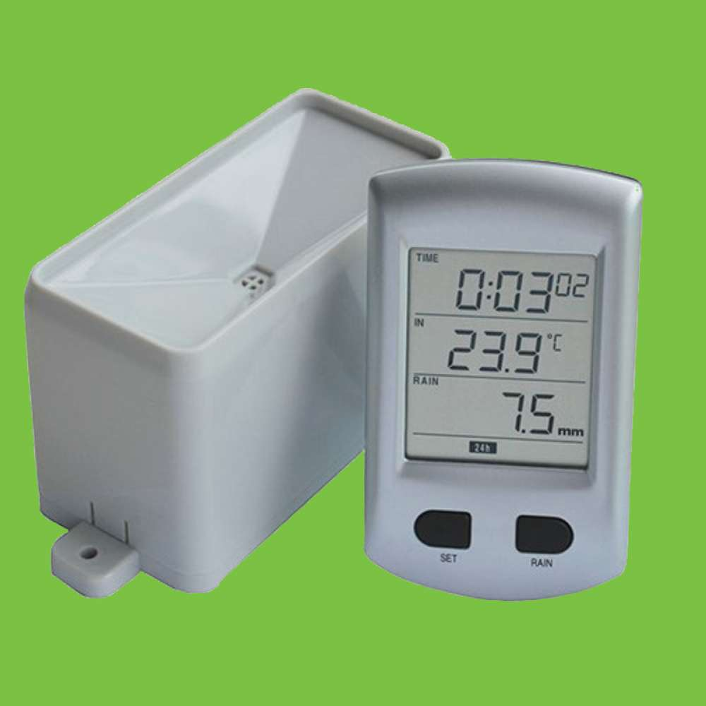 Rain Gauge Meter with Temperature reading