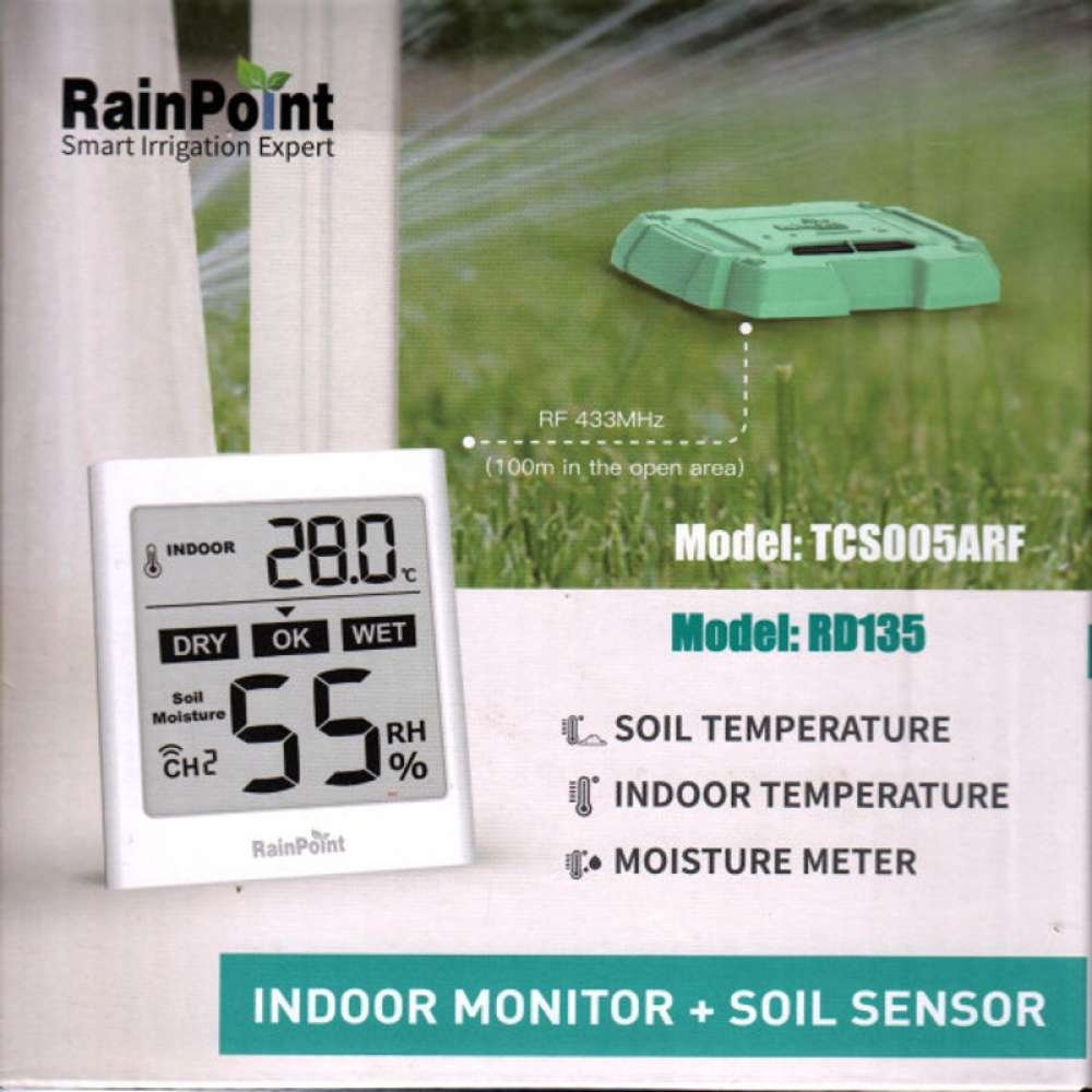 Rainpoint wireless soil moisture monitor with sensor