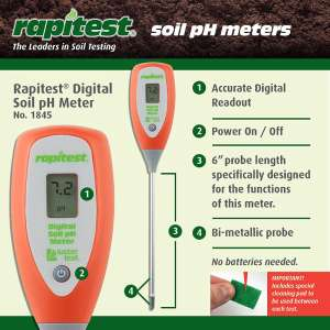 Rapitest Digital soil pH Meter with accurate readout
