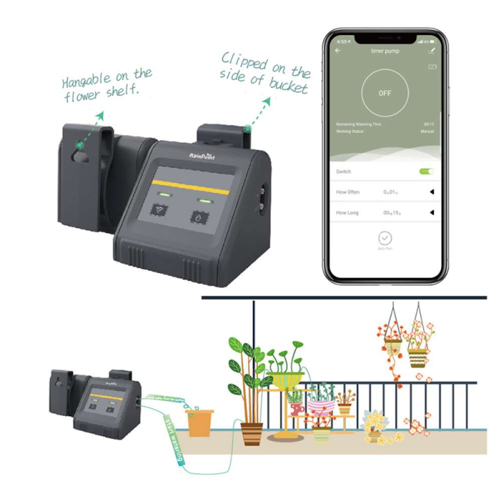 WiFi irrigation kit for potted plants