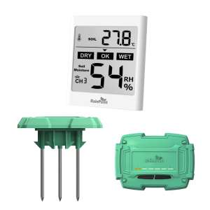 Wireless soil moisture monitor with sensor